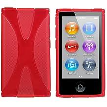 Mumbi X - Carcasa de silicona y TPU para iPod Nano 7G, color rojo