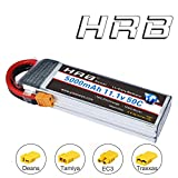 HRB RC AKKU LiPo 5000mAh 11.1V 3S 50C XT60 Stecker für Diverse Racing Cars, Helikopter, Flugzeuge und Modellboote (EC3/Deans/Traxxas/Tamiya