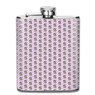 Pizza Addicted Pocket Leak Proof Liquor Hip Flask Alcohol Flagon 304 Stainless Steel 7OZ Gift Box Outdoor