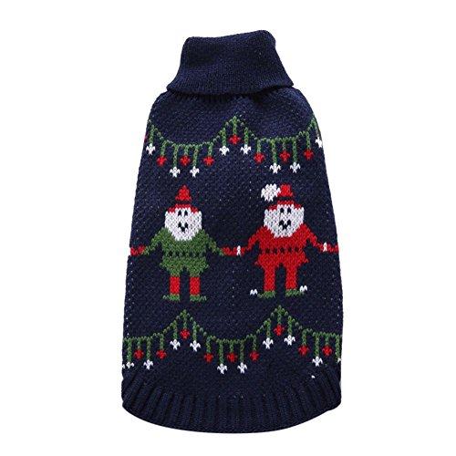 Haustier Welpen Strick Jacke, Kiao Kleiner Hund Strickwaren Weihnachts Kleider (Halloween Kostüme Periode)