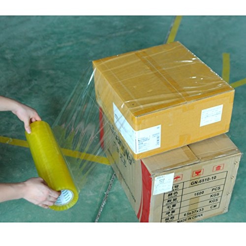 g Verpackung tapepacking Dichtung transparent Klebeband für sicheren Verschluss der Verpackung für den Transport und Mail 16.5in-110 yards ()