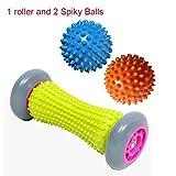 Wildlead Fußrolle Massage für Relief Plantar Fasciitis Reflexologie Rücken Bein Muskelmassagegerät + 2 Spiky Ball
