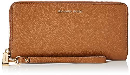 Michael Kors Damen Mercer Leather Continental Wristlet Geldbörse, Braun (Acorn), 2.5x10.16x20.32 cm