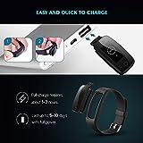 【Neue Version】Fitness Tracker, Mpow Bluetooth 4.0 Smart Fitness Armbänder mit Pulsmesser IP67 Wasserdicht Aktivitätstracker Schrittzähler 0.96''OLED Herzfrequenzmesser Pulsuhr für Android iOS wie iPhone 7/7 Plus/6S/6/5/5S, Samsung S8/S7, Huawei, LG, Sony, schwarz(USB Anschluss direkt laden) - 7