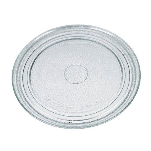 VIOKS Mikrowellenteller Teller Drehteller Glasteller für Mikrowelle Herd Universal Durchmesser: 273 mm 27,3 cm