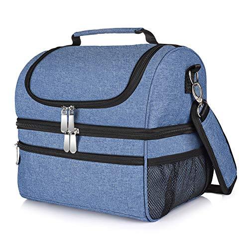 Hweggo borsa termica pranzo ufficio, 14 litri borsa termica porta pranzo con tracolla uomo donna per/pic-nic/campeggio/scuola,blu