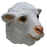 ZJSIM Halloween Lattice Pecora Maschera Carnevale Costume Cosplay Party Latex Animal Maschera per Masquerade Oggetti d'Interesse Decorativi Divertente