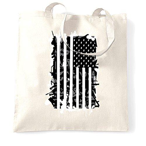 American Flag Frag Grenade Sacchetto Di Tote White