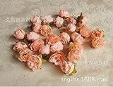 DS Styles 50pcs Rose en Soie Artificielle Têtes de Fleurs décoration de Maison fête dragées de Mariage 12Fh01 Ptice Cadeau Rose Clair