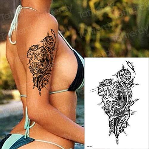 tzxdbh 3pcs-temporäre Tätowierung Kreuztatau Halloween EIN Stück Wassertransfer Tätowierung Tattoo Körperkunst zurück große Schwarze Aufkleber Tattoos Tatto 3D 3pcs 13