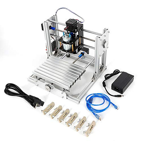 OUKANING Mini DIY CNC 2417 Mill Router Kit USB Desktop Metal Engraver PCB Milling Machine