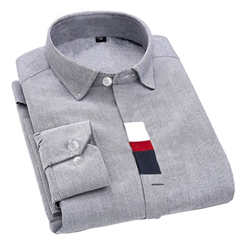 Men's Fashion Boutique Cotton Long Sleeve Formal Shirts white