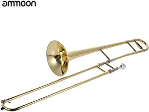 ammoon Tenor Posaune messing gold Lack BB Ton B flach Wind Instrument mit Mundstück aus Kupfernickel Reinigung Stick Fall