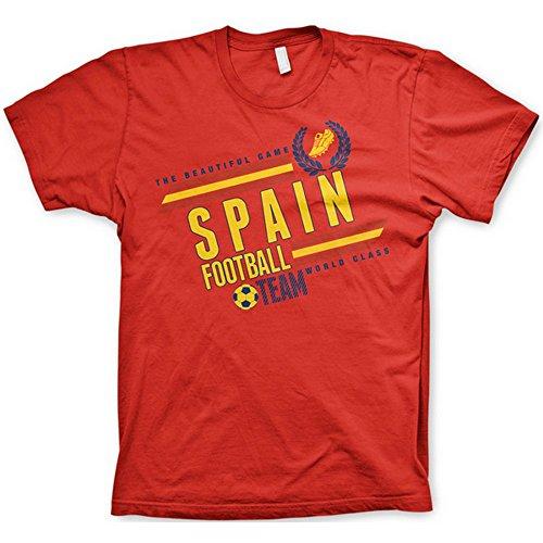 'Die schöne Spiel' Erwachsene Fußball World Cup Land, T-Shirts (vielen Größen und Länder zur Auswahl.) Gr. XXL, spanien (Spanien Fußball-team-jersey)