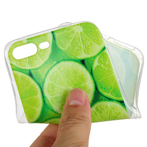 Custodia Cover Per Apple iPhone 7 Plus 5.5 , WenJie limone Trasparente Silicone Sottile Back Case Molle di TPU Trasparente per Apple iPhone 7 Plus 5.5 WM95