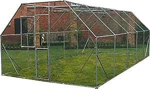 FeelGoodUK Hühnerkäfig, verzinkt, 6 x 3 x 2 m