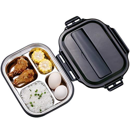 MLXBWH Isolierte Lunchbox, Japanische Bento-Box 2 Single-Layer-Doppelschicht Getrennt Student Erwachsene Kinder Edelstahl-Lunch-Box (größe : B)