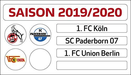 DFL Deutsche Fussball Liga 1. Bundesliga - Magnettabelle Update-Set (Saison 2019-2020) -