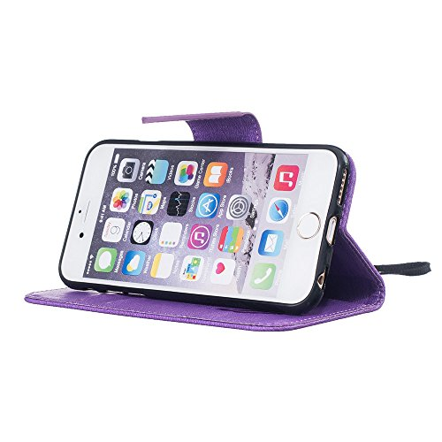 Nutbro iPhone 6S Case, iPhone 6 Case Wallet,Premium PU Leather Flip Folio Carrying Magnetic Closure Protective Shell Wallet Case Cover for iPhone 6 / 6S (4.7) with Kickstand Stand HX-iPhone-6-48