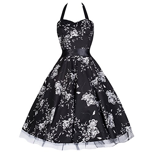 Abendkleid Schwarz Weiß: Amazon.de
