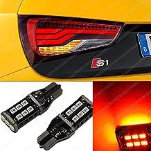 W16W 15SMD ámbar naranja indicadores T10T15LED Canbus Error Luz de xenón bombillas eb4r2