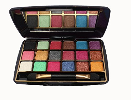 Half N Half BPS Professional Pocket-Size Makhmali Eye Shadow Travel Kit (12.8g) - Set of 18+ Colours