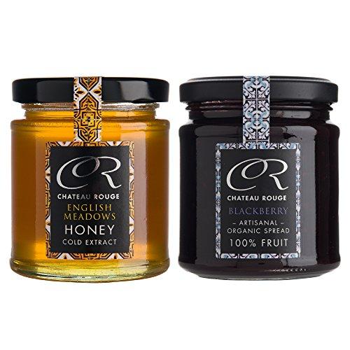 chateau-rouge-obst-bio-marmelade-geschenkset-brombeere-und-wiesen-honig