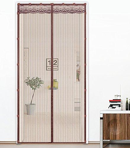 Liveinu zanzariera magnetica per porte finestre tenda zanzariera con magneti rete anti zanzare zanzariera versione aggiornata della clip adesiva marrone 80x240cm
