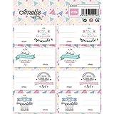 Grupo Erik Editores ELE0237 - Etiquetas con diseño Amelie Classic Rosa