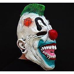 Máscara de látex malvada asustadiza del payaso de Halloween - de miedo Payaso pobre hombre