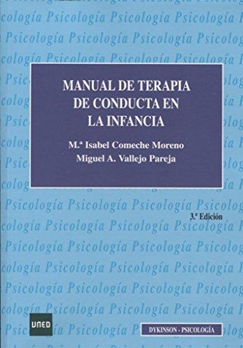 Manual de terapia de conducta en la infancia. por Miguel Ángel Vallejo Pareja