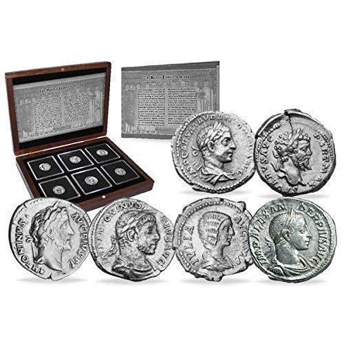 IMPACTO COLECCIONABLES ANTIKE Münzen - 6 Silberne Denare aus dem Römischen Reich - 6 Kaiser