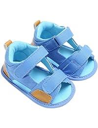 Saingace Toddler Baby Boys Canvas Sandals Soft Soled Anti-slip Footwear First Walking Shoes