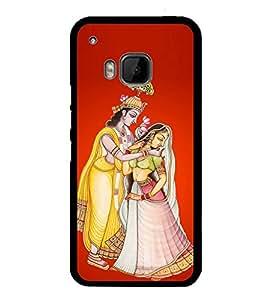 PrintVisa Designer Back Case Cover for HTC One M9 :: HTC One M9S :: HTC M9 (Radha Krishna painting Krishna Lela)