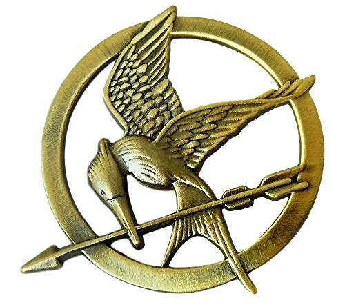 LACKINGONE The Hunger Games Katniss Everdeen Cosplay Rep Mockingjay Pin Brosche Anstecker (Katniss Mockingjay Kostüm)