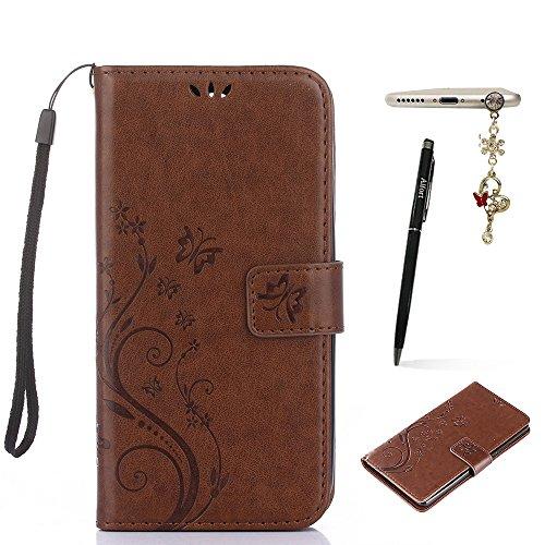 Nokia Lumia 830 Hülle, Nokia Lumia 830 Schutzhülle, Alfort 3 in 1 Lederhülle Fashion Design Premium PU Leder Hohe Qualität Tasche Case Cover Kasten Abdeckung Wallet für Nokia Lumia 830 5.0