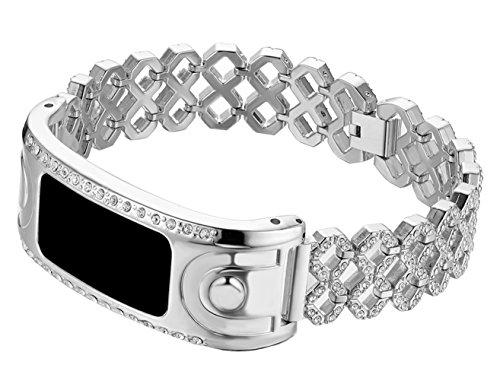 Ersatzband für Armbanduhr Garmin Vivofit und Garmin Vivofit 2, nicht für Garmin Vivofit 3/HR/JR, GR004 -Silver -