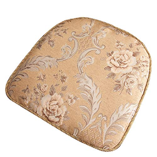 Lifangzhijia Europäische Art, die Stuhl-Kissen speist, Vierjahreszeiten-Kissen, Hufeisenkissen, verwendbar for Wohnzimmer, Esszimmer (Color : (4) Brown) (Wohnzimmer-gewebe-stühle)