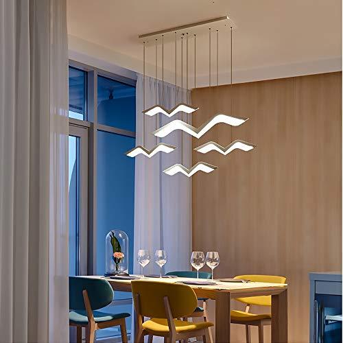 RJW Moderne Minimalistische Mode Möwe Kronleuchter Kreative Led Kunst Wohnzimmer Esszimmer Kronleuchter Mode Bar Lampe Creative