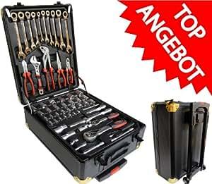 186Tlg ratschenringschlüssel coffret à outils trolley
