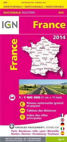954 FRANCE INDECHIRABLE 2014 1/1M