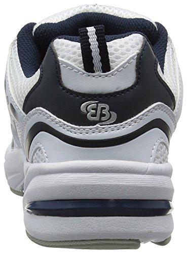 BruettingForce - Scarpe Running Bambino Bianco (Weiss/blau/silber)