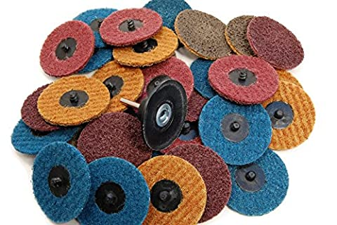 (30pc) Assorted 3in Roloc Type R Surface Prep Discs with