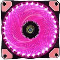 Ventilador de PC,CONISY 120 mm LED Gaming Ultra Silencioso Ventiladores para Caja de Ordenador - Rosa