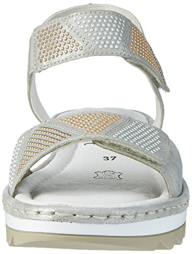 Remonte R7763, Sandales Bout Ouvert Femme Argent (Silber/90)