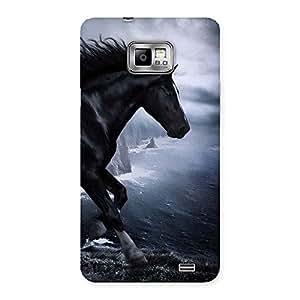 Impressive Premier Black Horse Back Case Cover for Galaxy S2