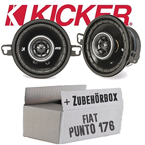 Fiat Punto 1 176 Front - Lautsprecher Boxen Kicker DSC 350 - 8,9cm Koax Auto Einbausatz - Einbauset (Kicker Lautsprecher Car Audio)