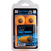 Table Tennis Ping Pong Balls - 3-Star 40mm Advanced Training Regulation Size Balls 6 Pk Orange SportzGo