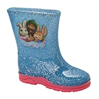 Girls Lily Bobtail Peter Rabbit Glitter Wellies Wellington Boots UK Size 5-10