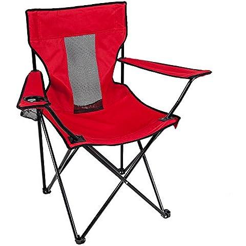 Camp Solutions Outdoor pieghevole Quad Sedia per campeggio di pesca - Red C0031